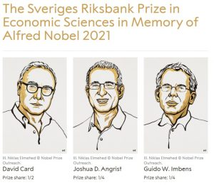 Premiul Nobel economie 2021