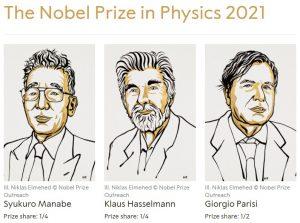 Premiul Nobel pentru fizica 2021